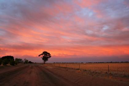 Birchip Sunrise - Photography by John Ferrier